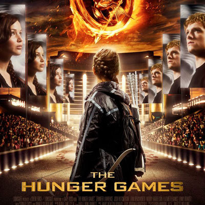 The Hunger Games Movie Poster With Katniss and Peeta