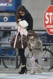 Suri Cruise and Katie Holmes both wore their heels in NYC.