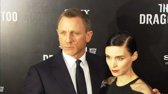"Video: Dragon Tattoo Stars Praise the ""Amazing"" Rooney Mara and ""Handsome"" Daniel Craig"