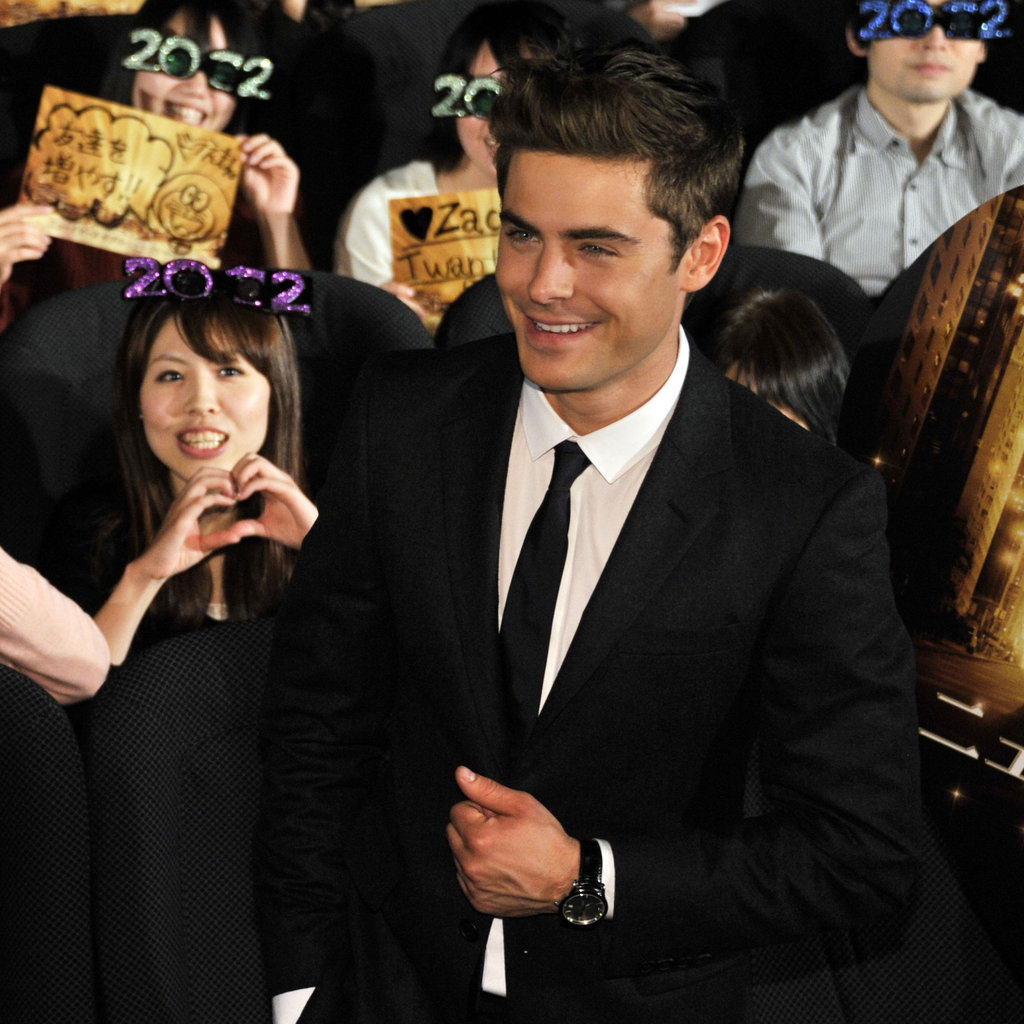 Zac got a warm reception from fans at the theater.