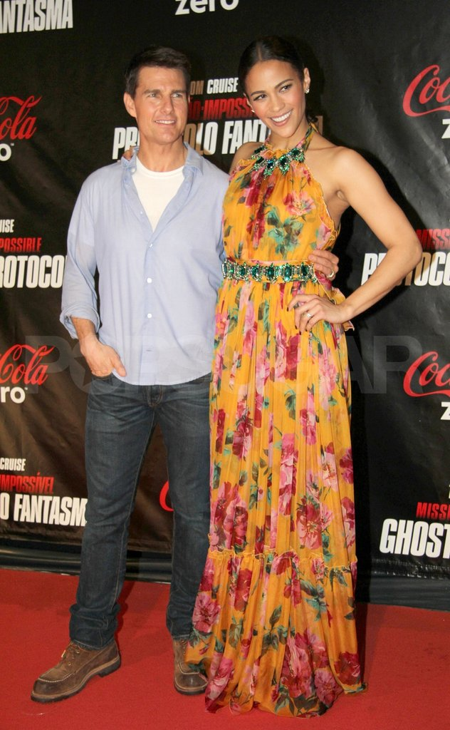 Tom Cruise and Paula Patton flew to Brazil on behalf of Mission: Impossible – Ghost Protocol.