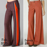 Orange Wide Leg Trousers
