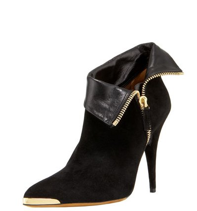 This bootie emotes major glamour, thanks to the gold-tipped detail. Tabitha Simmons Metal-Cap Fold-Over Bootie ($896)
