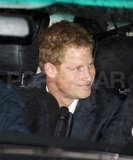 Prince Harry smiled on his way home.