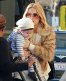 Rachel Zoe gave a kiss to baby Skyler, who she just announced learned how to give a kiss too!