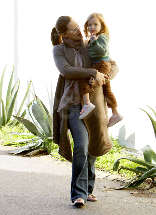 Jennifer Garner got a look at her youngest daughter, Seraphina.