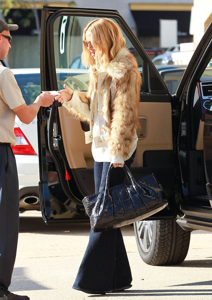 Rachel Zoe rocked majorly flared pants to run errands in LA.