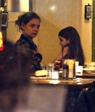 Katie Holmes and Suri Cruise played around during dinner.