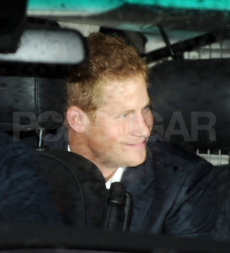 Prince Harry was driven home.