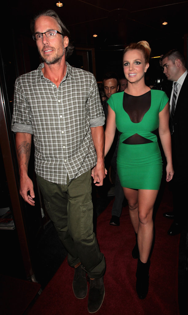 With Jason by her side, Britney wore a hot dress for the London party celebrating her UK tour in September 2011.