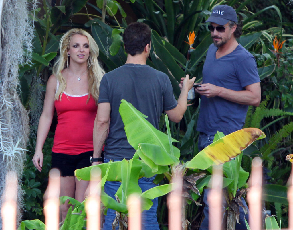Jason was by Britney's side to visit an LA recording studio in January 2011.
