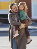Jennifer Garner carried Seraphina Affleck on a day out in LA.