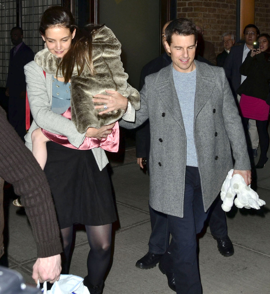 Tom, Katie, and Suri dined out in the Big Apple.
