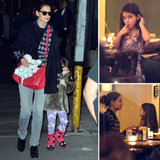 Katie Holmes and Suri Wrap Up a Fun Day With a Late Dinner