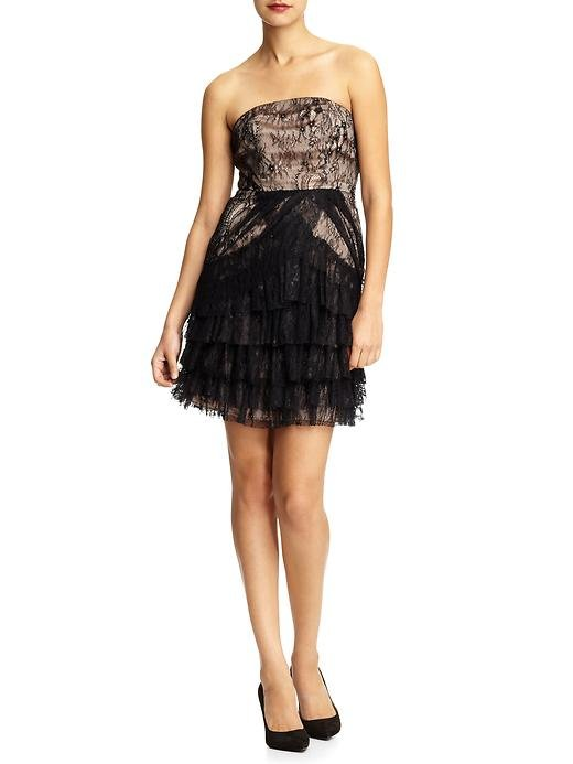 The pretty lace detailing makes this little strapless a standout.  Aryn K. Strapless Mini Dress ($99)