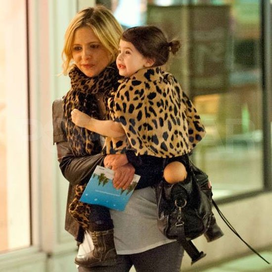 Sarah Michelle Gellar and Charlotte Prinze in matching leopard print.
