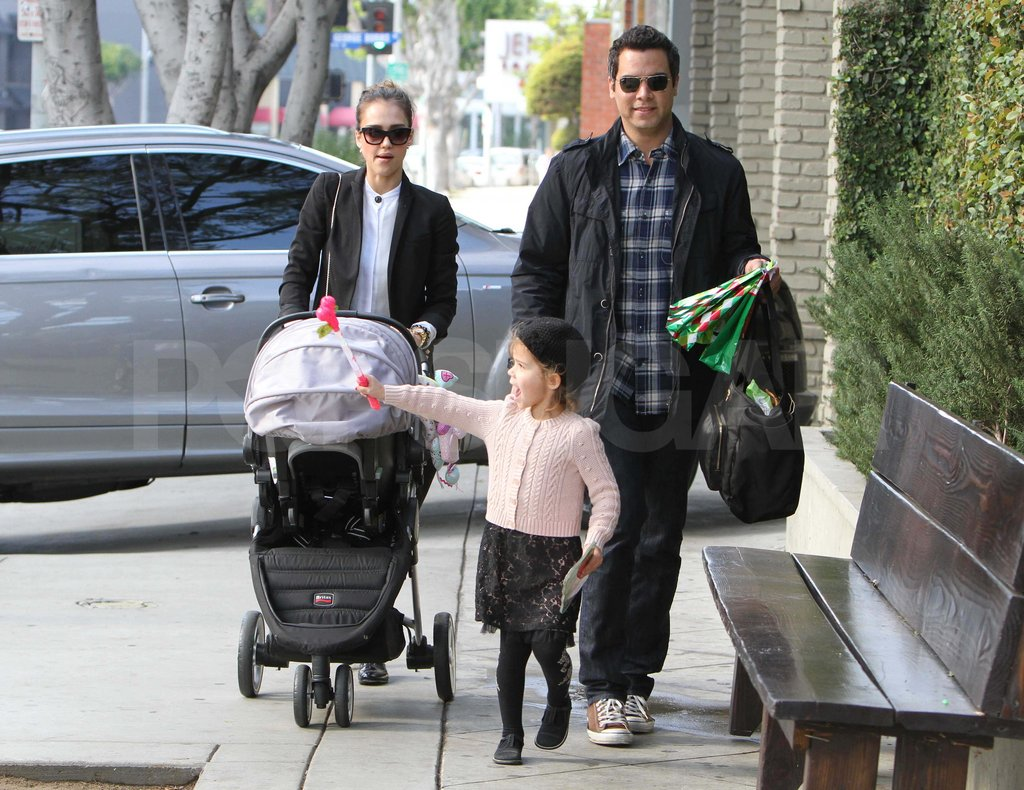 Jessica Alba and Cash Warren with Honor and Haven at Domincks in LA.
