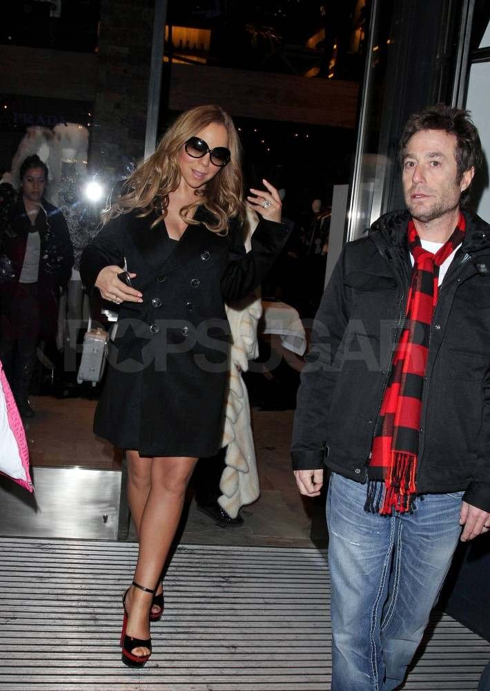 Mariah Carey out in Aspen with friends.