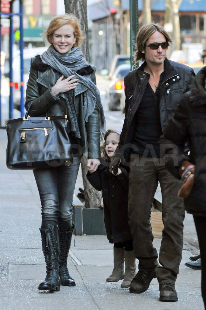 Nicole Kidman, Keith Urban, and Sunday in NYC.