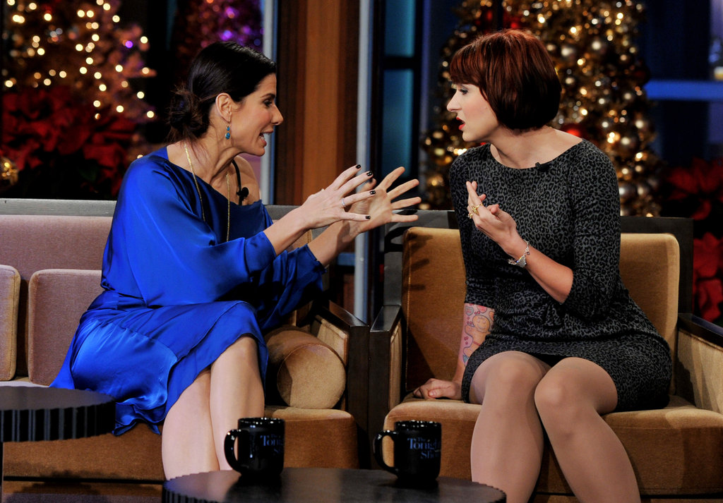 Sandra Bullock and Diablo Cody had a moment on The Tonight Show With Jay Leno.