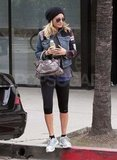 Nicole Richie leaving the gym.