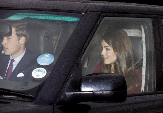 Prince William and Kate Middleton Head to Buckingham Palace For a Royal Family Meal