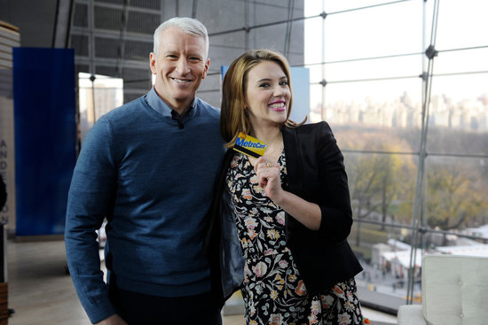 Anderson gifted Scarlett with a NYC metro card.