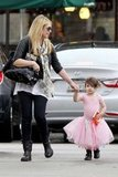 Sarah Michelle Gellar took her daughter Charlotte Prinze's hand.