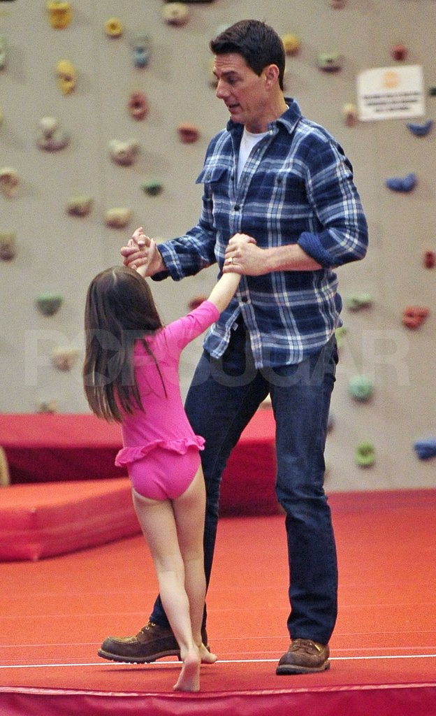 Tom Cruise and Suri Cruise did a little dance!