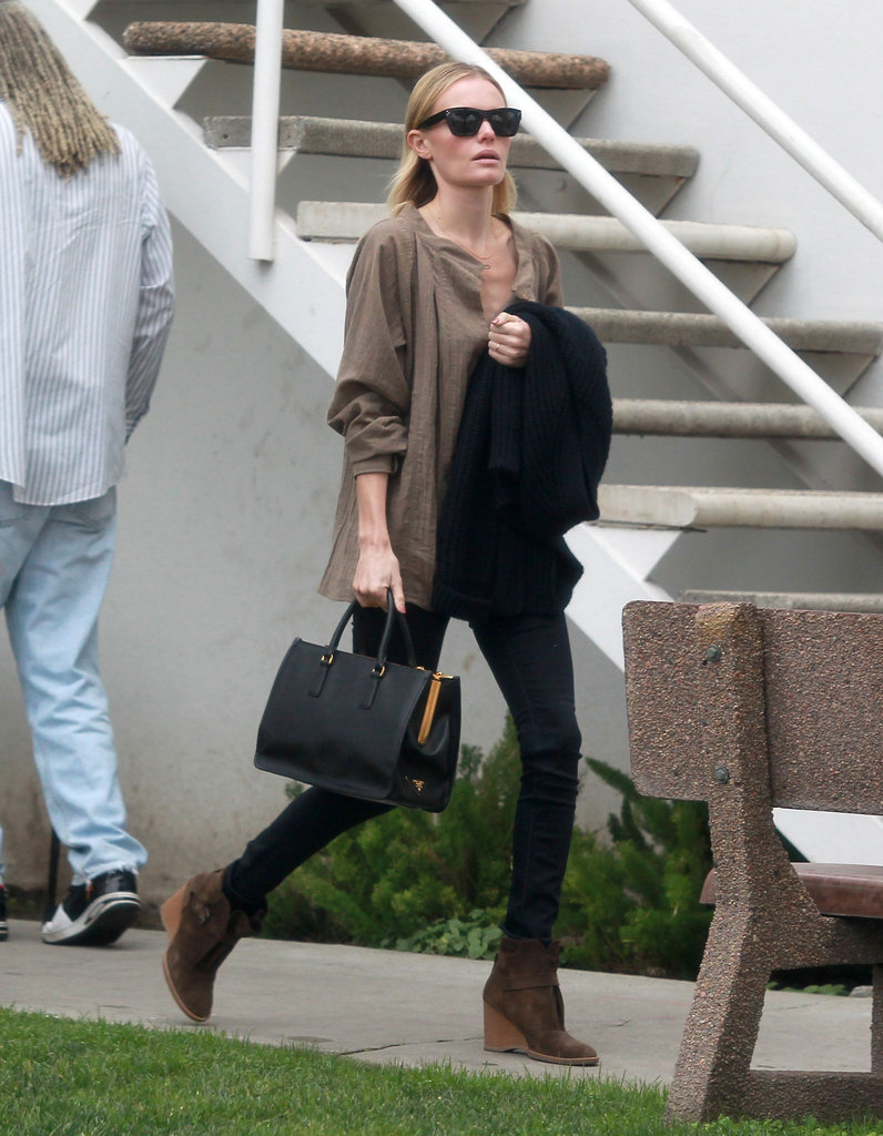 Kate Bosworth headed into a meeting in LA.