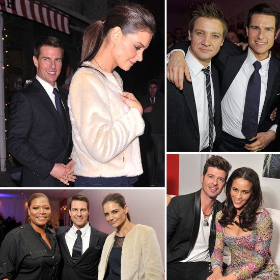 Tom and Kate Celebrate MI4 With Costars, a Queen, and Meatballs