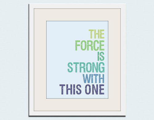 Star Wars Typography Print