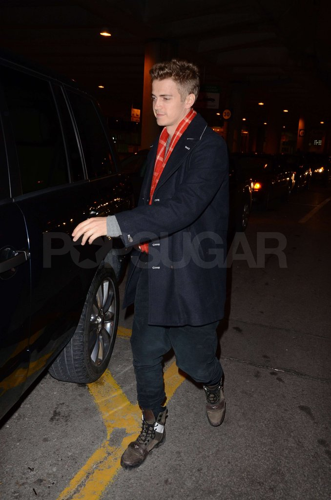 Hayden Christensen got out of his car.
