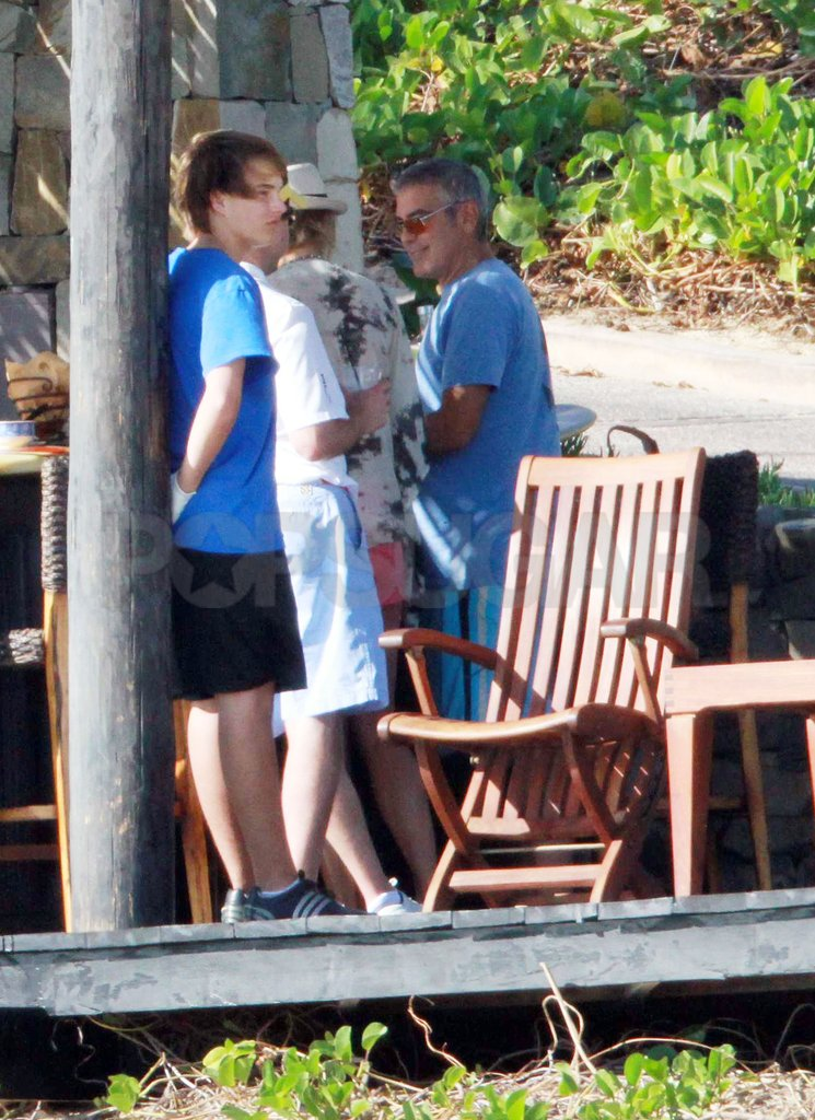 George Clooney started a relaxing day in Cabo.
