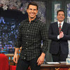 Tom Cruise Wreath Toss Pictures on Jimmy Fallon