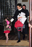 Katie Holmes and Suri Cruise headed out for the holidays.