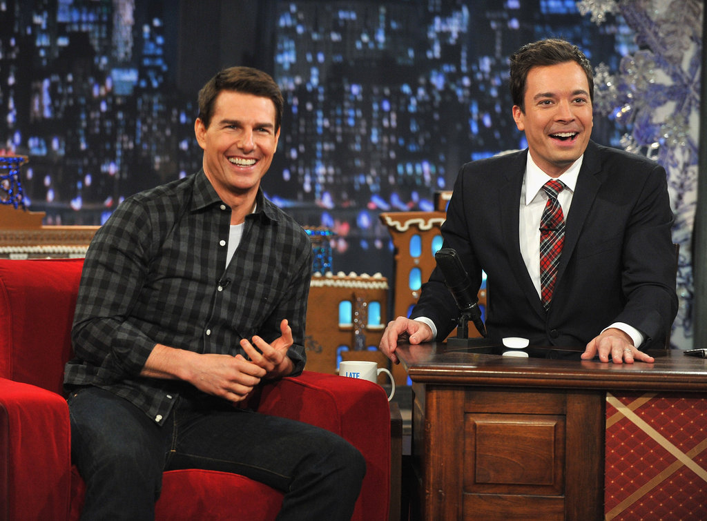 Tom Cruise and Jimmy Fallon were all smiles in NYC.