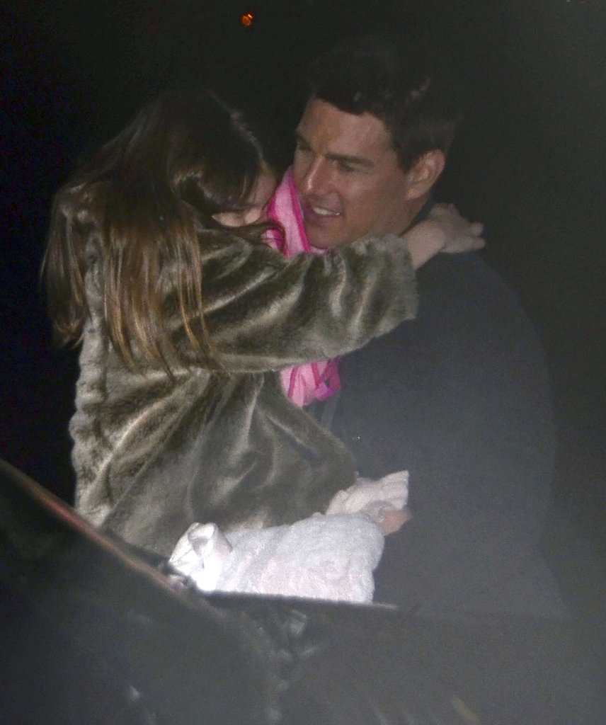 Tom Cruise and Suri Cruise headed to their helicopter in NYC.