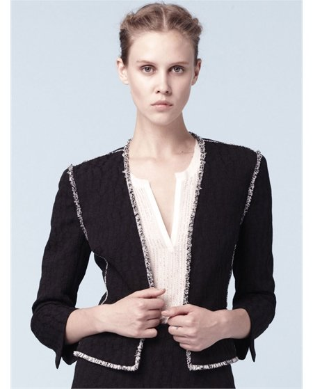 A classic find with just a hint of decadence via a gorgeous, metallic trim. L'Agence Open Front Jacket ($494)