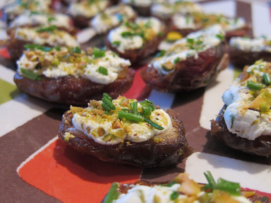Goat Cheese- and Pistachio-Stuffed Dates