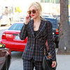 Gwen Stefani in Plaid Suit Pictures in LA