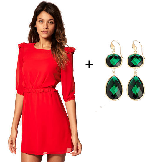 Merry Christmas! Wear your holiday reds and greens to the chicest degree.