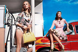 Prada's bright and feminine Spring 2012 collection looks like perfection in this '40s-vibe ad. Source: Fashion Gone Rogue