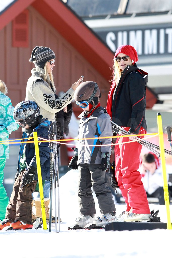 Kate Hudson takes Ryder skiing in Aspen.