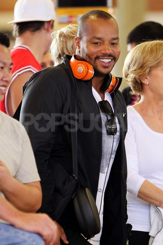Donald Faison was happy to be on vacation.
