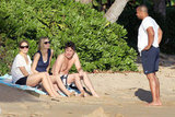 Cacee Cobb and Taylor Bagley wore big smiles on a Hawaiian vacation with Zach Braff and Donald Faison.