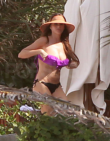 Sofia Vergara wore a purple bikini top on Christmas Eve.