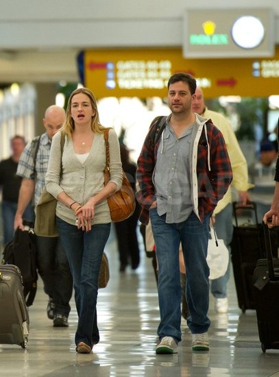 Jimmy Kimmel and Molly McNearney headed out for vacation together.