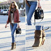 Rosie Huntington-Whiteley Carrying Celine Bag December 2011
