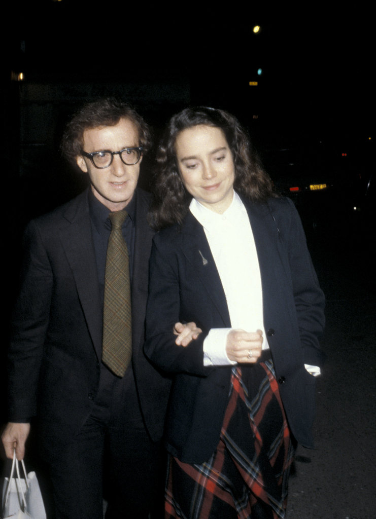 Woody Allen brings a date to his own star-studded New Year's Eve party in 1979.
